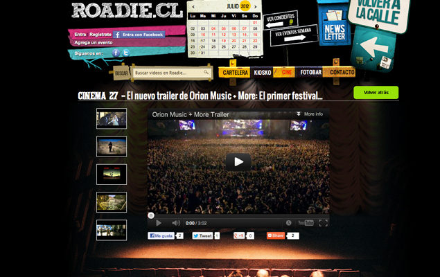 Sitio web Roadie